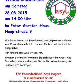 Heute: Willkommensfest im Pater-Gerster-Haus!!!