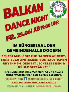balkan dance night flyer